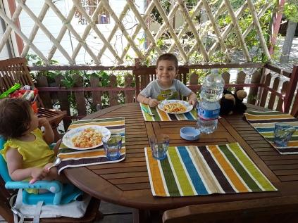 pranzo in veranda