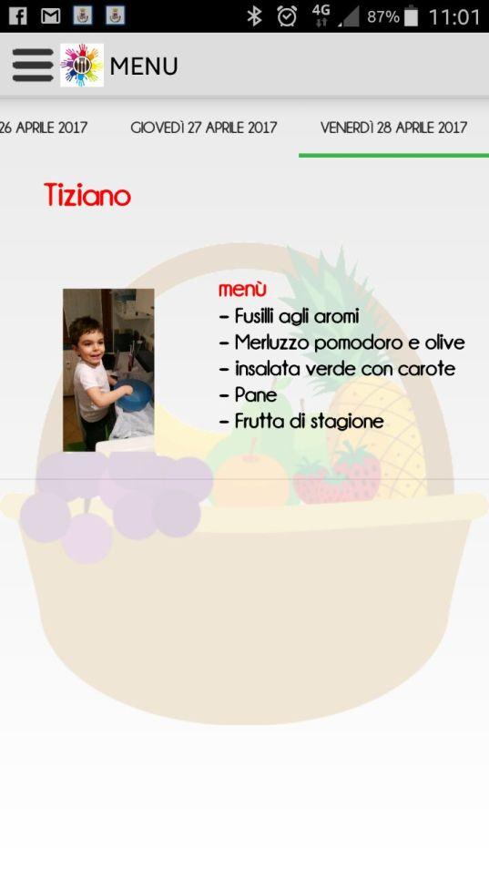 scuola menu